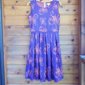 Lularoe sleeveless purple paisley Nicole dress L.